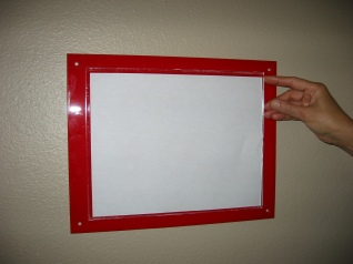Sign Holder Cleanroom Office Evacuation Map Holder